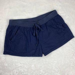 Joie Linen Blend Drawstring Elastic Waist Shorts M